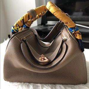 Handbags - LittleBunnyStores Taupe LD 26 Leather Bag